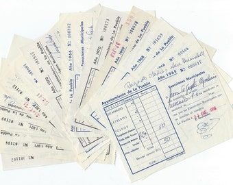 4 Vintage Ephemera Receipts from the city hall - P11