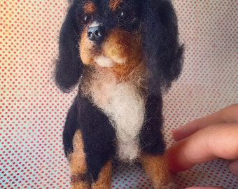 Custom Miniature Needle Felted Dog