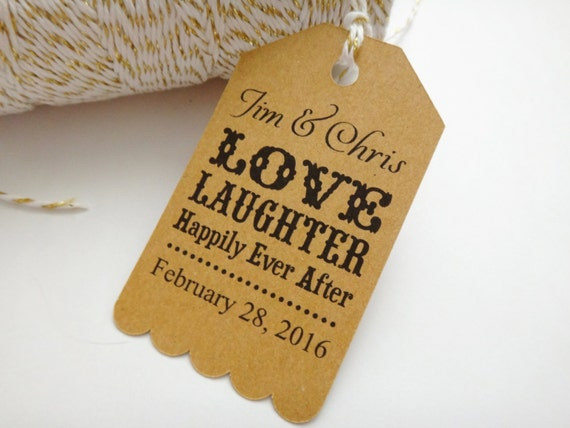 Wedding Favor Tags, Hang Tags, Personalized Wedding Tags, Custom Thank ...
