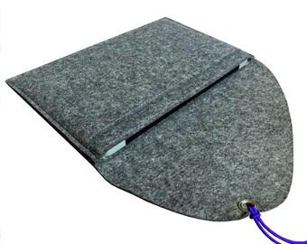 "grey merino wool case for Mac Air 11"", felt bag for MacBook, felt sleeve for Mac Air 11"", MacBook protection, MacBook sleeve, soft cover"