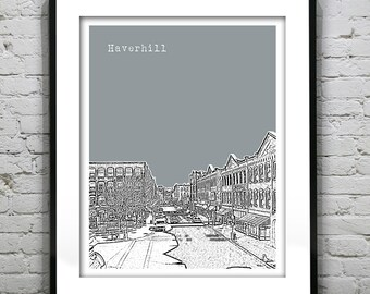 Haverhill Massachusetts Poster Art Print MA Version 1