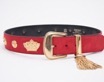 escada belt with tassel vintage 1980s • Revival Vintage Boutique