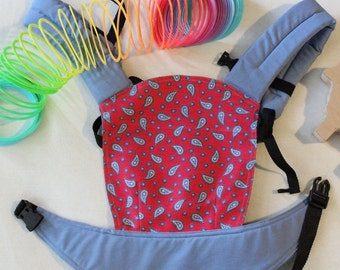 FREE SHIPPING/ by Bagy™ paisley/ Reversible Doll Carrier Stripes/ soft structured/ by Bagy collection/ best gift for girls