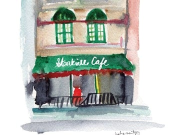 """Starkville Mississippi Restaurant Print -- Starkville Cafe 8 x 10"""""""