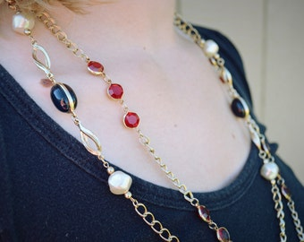 Vintage Chain & Bead Necklaces (2)