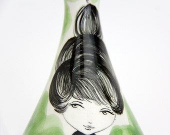 Vintage German Hand Painted Perfume Bottle