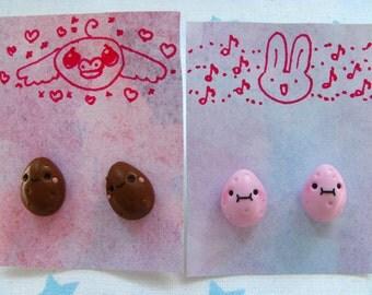 Kawaii potato earrings