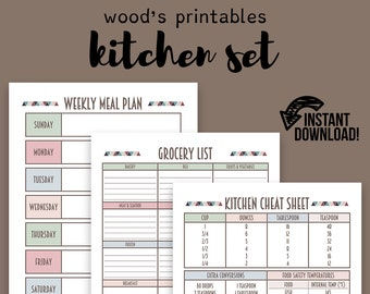 Kitchen Planner PDF Printable; Home Binder, Household Binder, Home  Management Binder, Grocery