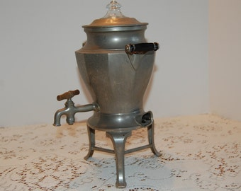 Vintage Aluminum Coffee Urn, Electric Coffee Pot, Tea Urn, Electric Tea Pot
