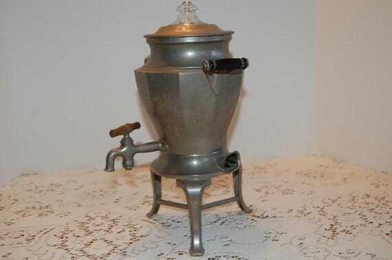 Electric Coffee Urn ~ Vintage aluminum coffee urn electric pot tea