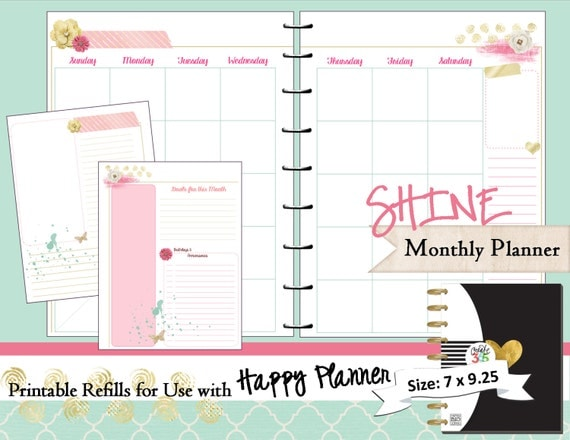 Refreshing image within happy planner printable inserts