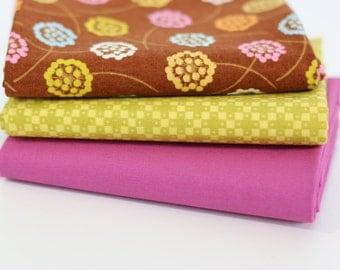 Summer Dandelions Fat Quarter bundle - modern fabric bundle, modern quilt fabric, floral, Denyse Schmidt, Hope Valley, Art Gallery Fabrics