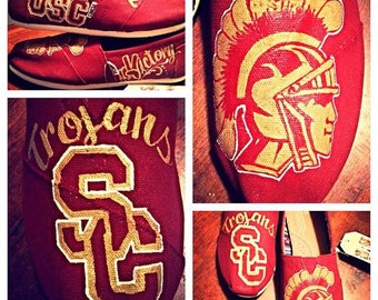 USC Trojans Custom Painted Toms