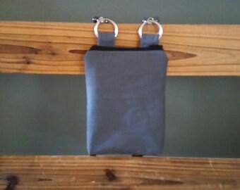 SALE Was 19.79. Dark gray phone messenger bag