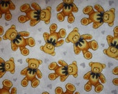 Fitted Pack n Play sheet - Flannel - Teddy Bears