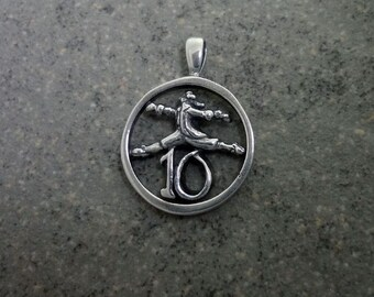 Christmas Charm, Ten Lords a-Leaping - Handmade in 14k Gold or Sterling Silver