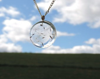Make a Wish Dandelion Resin Necklace