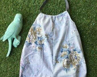 Vintage Floral Fabric Romper Sun Suit