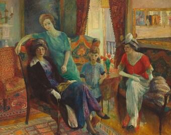 "William Glackens : ""Family Group"" (1910/1911) - Giclee Fine Art Print"