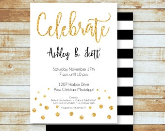 Party Invitation / Engagement / Celebrate