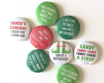 ELF MOVIE QUOTE flair buttons holiday pin badge crafting scrapbooking buddy december daily