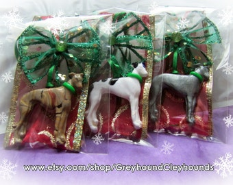 Greyhound Whippet Christmas Ornament