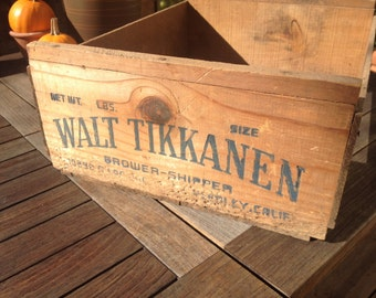 Rustic Vintage Wooden Crate, California, Fruit Crate, Rustic Home Decor, Vintage Storage