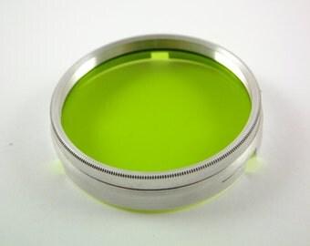 Vintage Camera Green Filter Lens in Plastic Case 51mm Foto-Optik ARNZ JENA