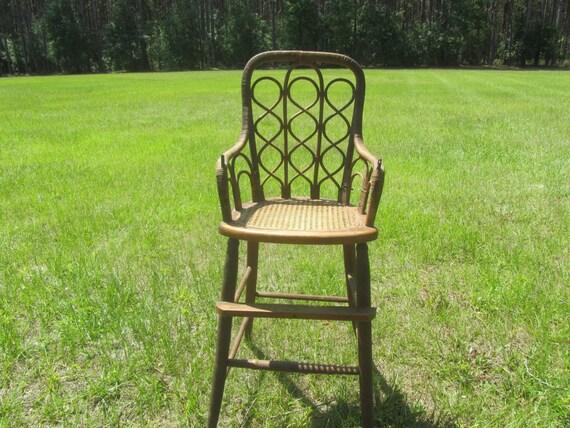 Antique High Chair Childs Wicker Chairfurniture Victorian