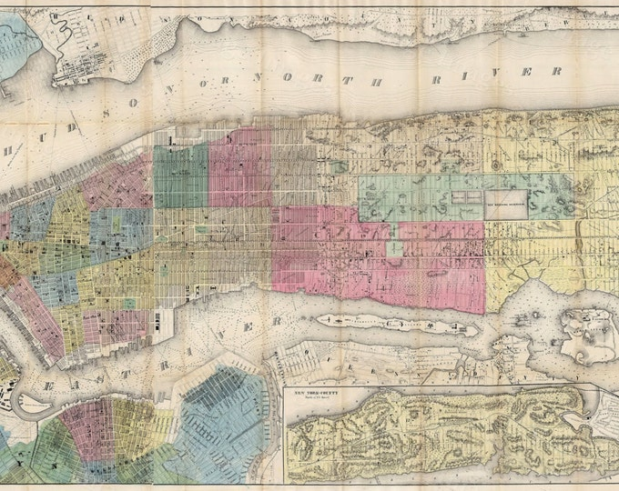 Map Of Old New York.15 Off Coupon On Old New York Map 1855 New York City Map Old