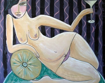 Tweeny Weeny Martini- Limited  Edition Print - by Aussie Artist Samantha Thompson