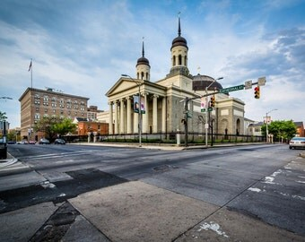 The Baltimore Basilica, Baltimore, Maryland. | Photo Print, Stretched Canvas, or Metal Print.