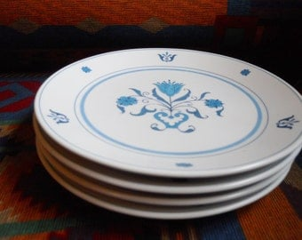 Set of 4 Noritake Blue Haven Salad Plates