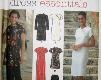 Simplicity 7178, Asian Style Dress, Asian Tunic and Pants, Asian Dress Frog Closure, Asymetrical Pattern, Tunic, Misses Size 4 6 8, UNCUT