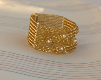 Free express shipping in 3-5 days Bridal Beadwork, Beadwork cuff, Beaded cuff