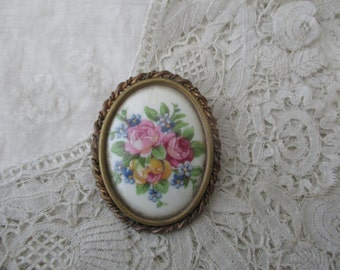 French limoges brooch