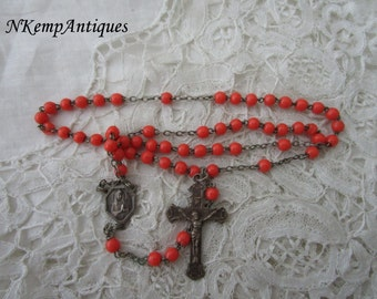 1920's french rosary glass