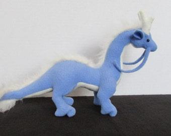Little Plush Blue and Cream Eastern Dragon