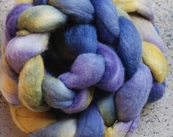 Hand dyed fine merino combed top