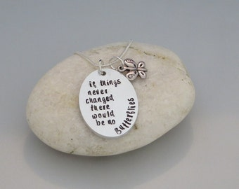 Butterfly oval necklace
