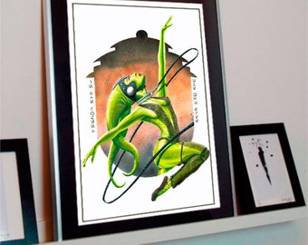 Star Wars Oola A3 Art Print - Jabba's Twi'lek Dancer Return of the Jedi