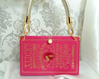 Alice in Wonderland - Book Bag - Book Cover Bag - Book Purse