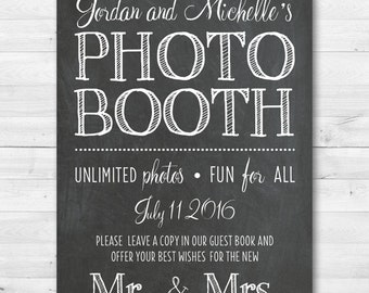 Photo Booth Guest Book Wedding Sign