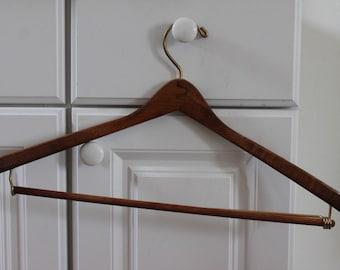 Wooden Curved Vintage Hanger c1980s
