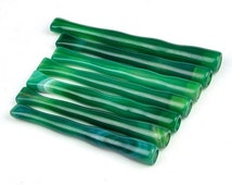 7pcs Green Agate Stone Cigarette Holders Handmade Wholesale -Z020004