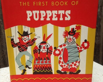Vintage Puppets Children's Book