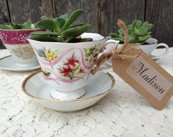 Vintage teacup favor