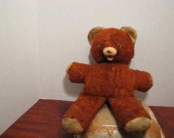 Vintage Stuffed Teddy Bear by Ideal Toy Corp.