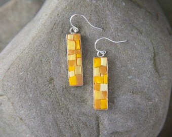Mosaic Earrings: Butternut