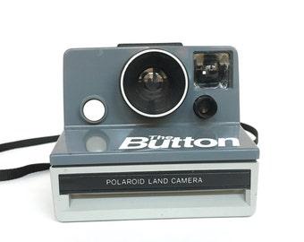Rare Vintage 70s 80s Polaroid The Button Instant SX-70 Film Land Camera